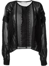 прозрачная блузка с вышивкой  Faith Connexion