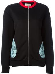 куртка с контрастными кружевными деталями Christopher Kane