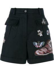 шорты с вышивкой Valentino