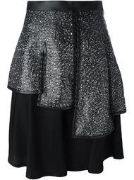 расклешенная юбка с отблеском  Comme Des Garçons Noir Kei Ninomiya