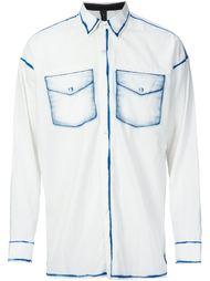 рубашка с принтом нагрудных карманов Miharayasuhiro