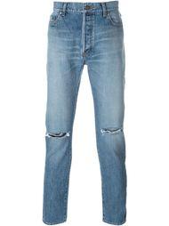 выбеленные джинсы кроя слим Saint Laurent