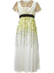 платье с цветочным узором  Giambattista Valli