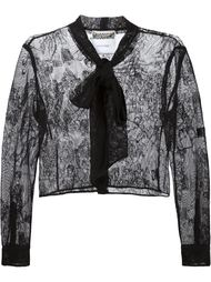 кружевной пиджак Moschino