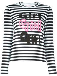 футболка в полоску с принтом  'Girl' Comme Des Garçons Girl