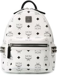 рюкзак с принтом логотипа MCM