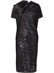 асимметричное прозрачное платье-рубашка Junya Watanabe Comme Des Garçons