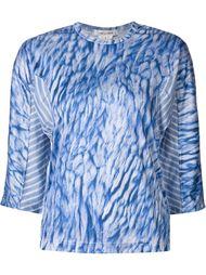 полупрозрачная блузка с панельным дизайном Comme Des Garçons