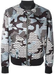 куртка-бомбер с камуфляжным принтом  Neil Barrett