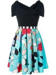 парчовое платье с цветочным принтом Antonio Marras
