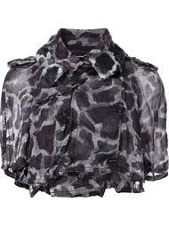 укороченная куртка с пятнистым принтом Comme Des Garçons