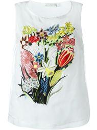 топ с цветочной вышивкой Mary Katrantzou