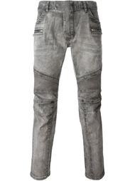 байкерские джинсы кроя скинни Balmain
