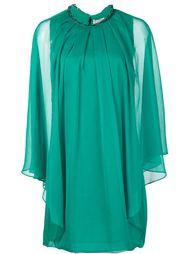 мини-платье кроя кейп Halston Heritage