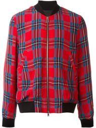 куртка-бомбер в клетку Ps By Paul Smith
