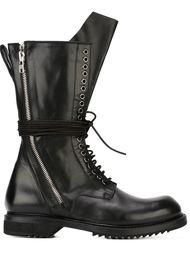 армейские сапоги на шнуровке Rick Owens