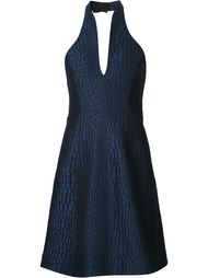 фактурное платье с вырезом-халтер Halston Heritage