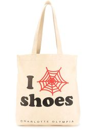 сумка-шоппер 'I Shoes' Charlotte Olympia
