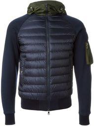 куртка с дутыми вставками  Moncler