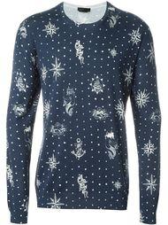 свитер с принтом  Alexander McQueen