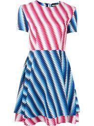 расклешенное платье в полоску  House Of Holland
