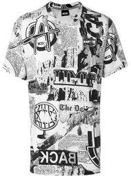футболка с принтом газет KTZ