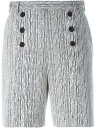 шорты с завышенной талией на пуговицах Carven