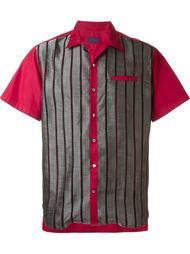 контрастная рубашка с короткими рукавами  Lanvin