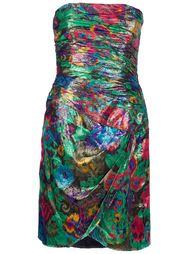 платье с люрексом без лямок Escada Vintage