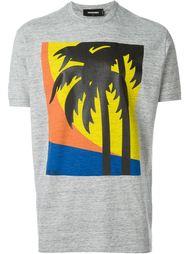 футболка с принтом пальм  Dsquared2