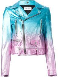 байкерская куртка с градиентным эффектом Saint Laurent