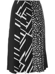 плиссированная юбка с комбинированным принтом Salvatore Ferragamo