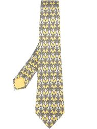 галстук с геометрическим принтом Hermès Vintage