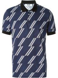 футболка-поло в полоску MSGM