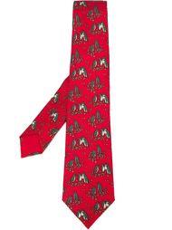галстук с принтом пингвинов Hermès Vintage