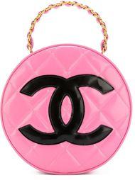 круглая стеганая сумка-тоут Chanel Vintage