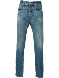 джинсы с потертой отделкой Rrl