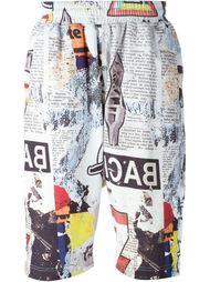 спортивные шорты с принтом газет KTZ