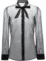 прозрачная блузка в горох Saint Laurent