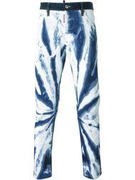 джинсы с эффектом тай-дай Dsquared2