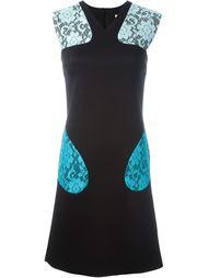 платье с кружевными деталями  Christopher Kane