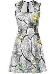 платье А-образного силуэта с цветочным принтом Yigal Azrouel