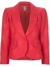 Жаккардовый пиджак с цветочным узором Emanuel Ungaro Vintage