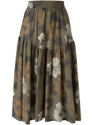 юбка-миди с цветочным принтом Kenzo Vintage