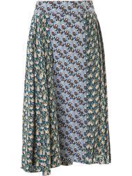 плиссированная юбка с цветочным принтом Marni