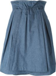 юбка А-силуэта с запахом Jil Sander Navy