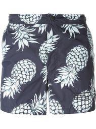 шорты для плавания с принтом ананасов  Valentino