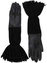 перчатки с бахромой Hermès Vintage