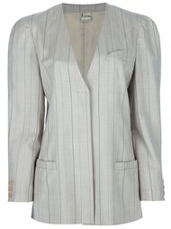 костюм с юбкой в полоску Krizia Vintage