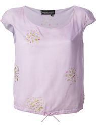 прозрачная блузка с бусинами Jean Louis Scherrer Vintage